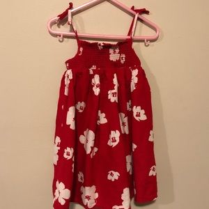 Girl toddler red dress